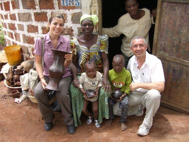 Avec une famille de potiers, rencontrés par hasard...