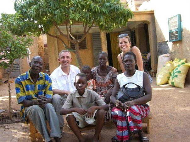 Avec notre filleul de Ouagadougou et sa famille...